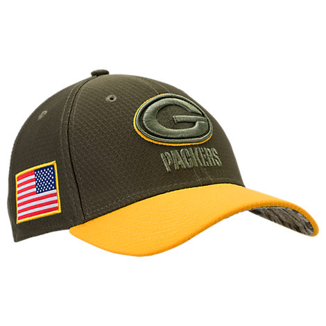 New Era Green Bay Packers NFL Salute To Service 39THIRTY Fitted Hat