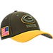 Front view of New Era Green Bay Packers NFL Salute To Service 39THIRTY Fitted Hat in Team Colors/Camo