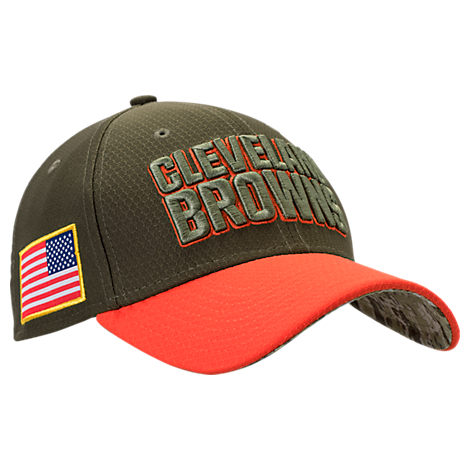 New Era Cleveland Browns NFL Salute To Service 39THIRTY Fitted Hat