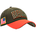 Front view of New Era Cleveland Browns NFL Salute To Service 39THIRTY Fitted Hat in Team Colors/Camo