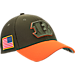 Front view of New Era Cincinnati Bengals NFL Salute To Service 39THIRTY Fitted Hat in Team Colors/Camo