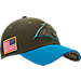 Front view of New Era Carolina Panthers NFL Salute To Service 39THIRTY Fitted Hat in Team Colors/Camo