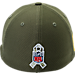 Back view of New Era Carolina Panthers NFL Salute To Service 39THIRTY Fitted Hat in Team Colors/Camo
