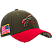 Front view of New Era Buffalo Bills NFL Salute To Service 39THIRTY Fitted Hat in Team Colors/Camo