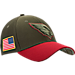 Front view of New Era Arizona Cardinals NFL Salute To Service 39THIRTY Fitted Hat in Team Colors/Camo