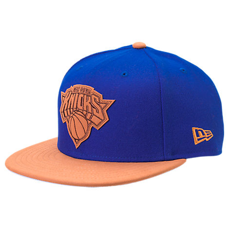 New Era New York Knicks NBA Leather Patch Adjustable Hat