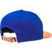 Back view of New Era New York Knicks NBA Leather Patch Adjustable Hat in Team Colors