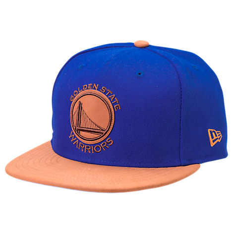New Era Golden State Warriors NBA Leather Patch Adjustable Hat