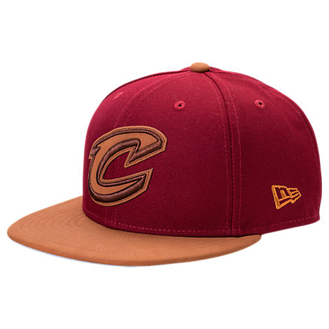 New Era Cleveland Cavaliers NBA Leather Patch Adjustable Hat