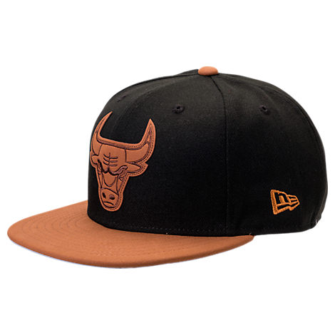 New Era Chicago Bulls NBA Leather Patch Adjustable Hat