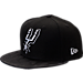 Front view of New Era San Antonio Spurs NBA Camo Shade Hat in Black