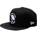 Front view of New Era Golden State Warriors NBA Camo Shade Hat in Black