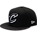 Front view of New Era Cleveland Cavaliers NBA Camo Shade Hat in Black