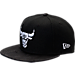 Front view of New Era Chicago Bulls NBA Camo Shade Hat in Black