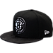 Front view of New Era Brooklyn Nets NBA Camo Shade Hat in Black