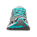 Front view of Women's Brooks Launch 3 Running Shoes in Moon Grey/Blue Radience/Primer Grey