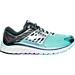 Right view of Women's Brooks Glycerin 14 Running Shoes in Aqua/Black/Purple