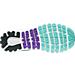 Bottom view of Women's Brooks Glycerin 14 Running Shoes in Aqua/Black/Purple