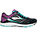 Right view of Women's Brooks Ghost 9 Running Shoes in Black/Sparkling Grape/Ceramic