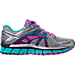 Right view of Women's Brooks Adrenaline 17 GTS Running Shoes in Silver/Purple Cactus Flower/Bluebird