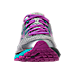 Front view of Women's Brooks Adrenaline 17 GTS Running Shoes in Silver/Purple Cactus Flower/Bluebird