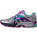 Left view of Women's Brooks Adrenaline 17 GTS Running Shoes in Silver/Purple Cactus Flower/Bluebird
