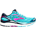 Right view of Women's Brooks Transcend 4 Running Shoes in Bluefish/Peacoat/Purple Cactus