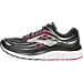 Left view of Women's Brooks Glycerin 15 Running Shoes in Black/Pink Peacock/Plum