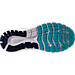 Bottom view of Women's Brooks Glycerin 15 Running Shoes in Capri/Evening Blue/Purple Cactus Flower