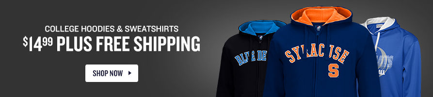 Men's College Hoodies & Sweatshirts $14.99 plus Free Shipping