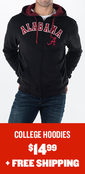 College Hoodies and Sweatshirts $14.99 plus free shipping