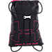 Back view of Under Armour Ozsee Gymsack in Pink/Black