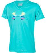 Girls' Under Armour Big Logo V-Neck Tech T-Shirt