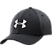 Back view of Under Armour Blitzing II Stretch Fit Hat in Black/White