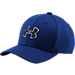 Front view of Boys' Under Armour Blitzing 2.0 Stretch Fit Hat in Royal/Black