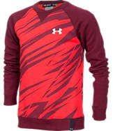 Boys' Under Armour Rival Cotton Fleece Crew Sweatshirt