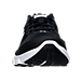 Front view of Boys' Grade School Under Armour Assert 6 Running Shoes in Black/White