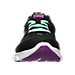 Front view of Girls' Preschool Under Armour Assert 6 Running Shoes in Black/Antifreeze/Strobe