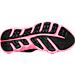 Bottom view of Girls' Preschool Under Armour Assert 6 Running Shoes in Black/Pink