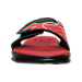 Front view of Men's Under Armour Micro G Slide Sandals in Black/White/Red