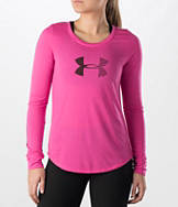Women's Under Armour Stripe Logo Long-Sleeve Shirt
