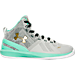 Right view of Boys' Preschool Under Armour Curry 2 Basketball Shoes in Aluminum/Antifreeze/Gold