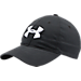 Front view of Men's Under Armour Chino Adjustable Hat in Black/White