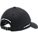 Back view of Men's Under Armour Chino Adjustable Hat in Black/White