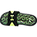 Top view of Boys' Grade School Under Armour Ignite Velocity Slide Sandals in Black/White/High Vis Yellow