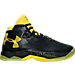 Right view of Boys' Grade School Under Armour Curry 2.5 Basketball Shoes in Black/Taxi