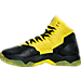 Left view of Boys' Grade School Under Armour Curry 2.5 Basketball Shoes in Black/Taxi