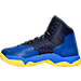 Left view of Boys' Grade School Under Armour Curry 2.5 Basketball Shoes in Blue/Gold - Away