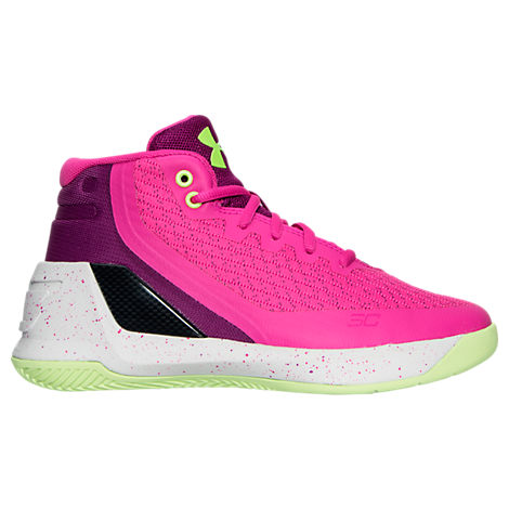 Girls' Preschool Under Armour Curry 3 Basketball Shoes