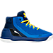 Right view of Boys' Preschool Under Armour Curry 3 Basketball Shoes in Team Royal/Caspian/Taxi